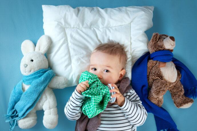 Baby krank, Luftbefeuchter Baby