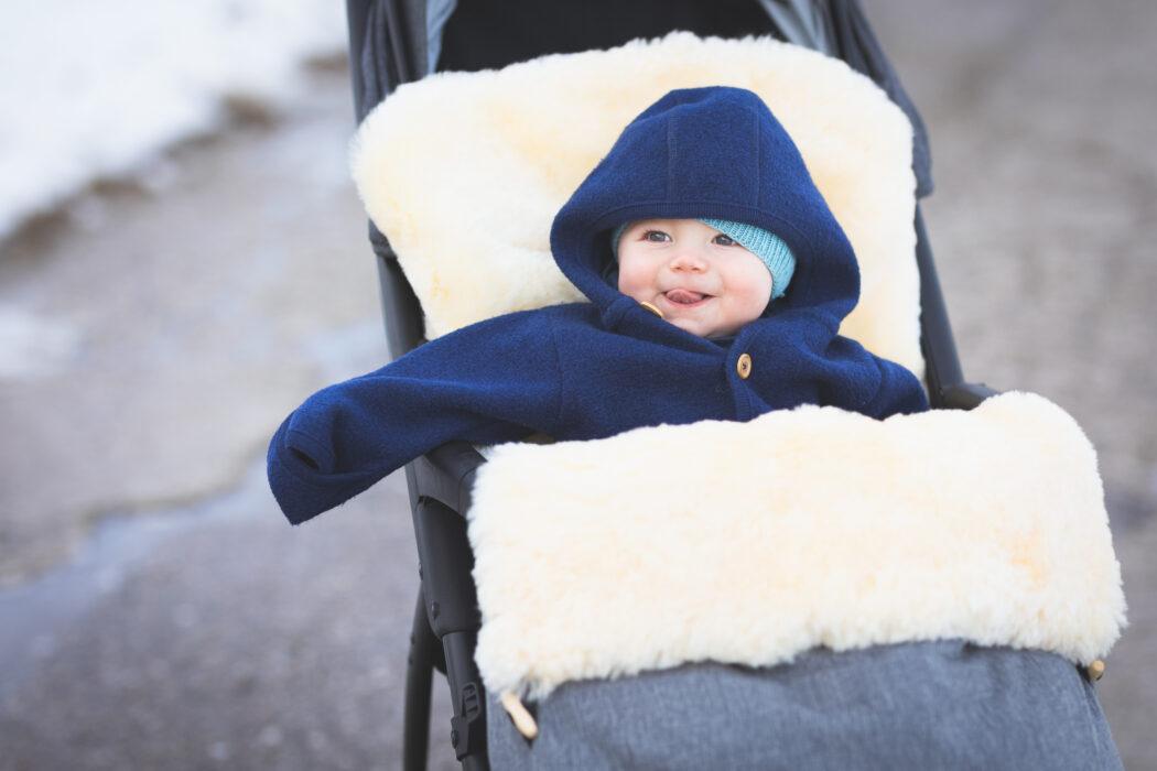 Winterfußsack Bernina Lammfell Baby Fußsack Fillikid