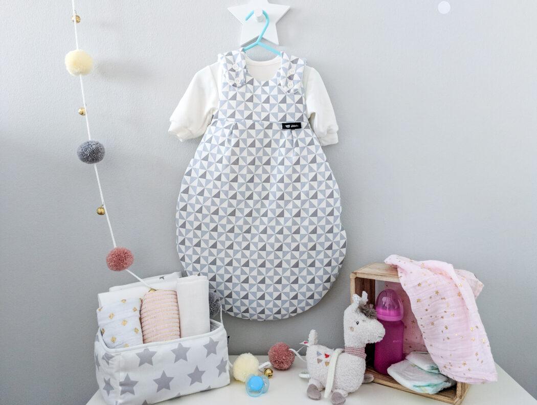 Baby Schlafsack Baby Mäxchen von Alvi grau weiß