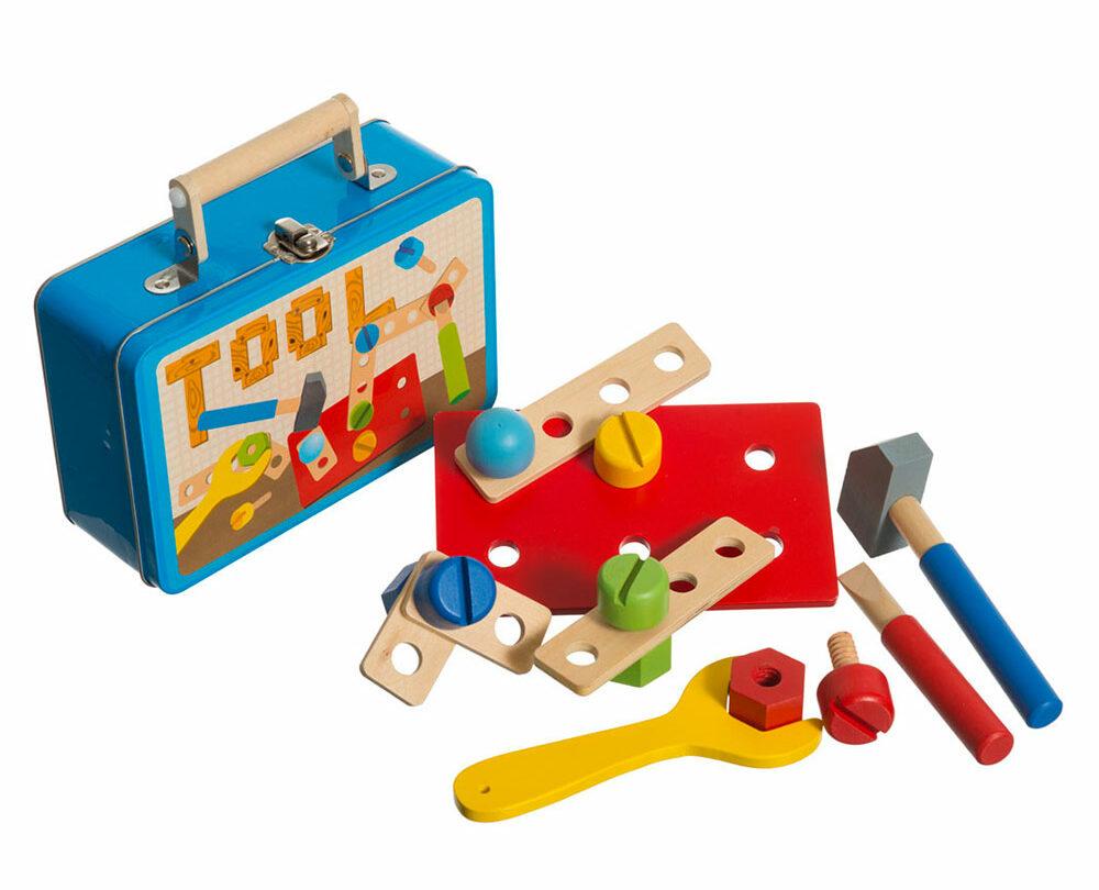 werkzeug koffer zubehoer werkbank geschenk kind