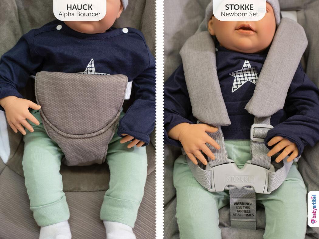 Stokke Tripp Trapp vs. Hauck Newborn Aufsätze für Hochstühle im Vergleich