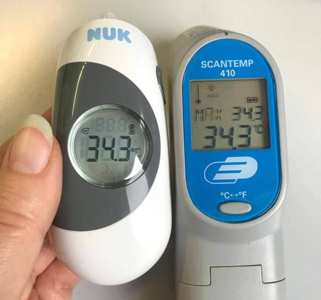 nuk 3 in 1 fieber thermometer vergleich messgeraet oberflaeche temperatur