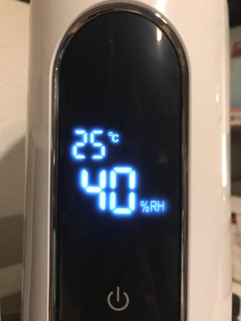 luftbefeuchter humitouch pure miniland display beleuchtet anzeige