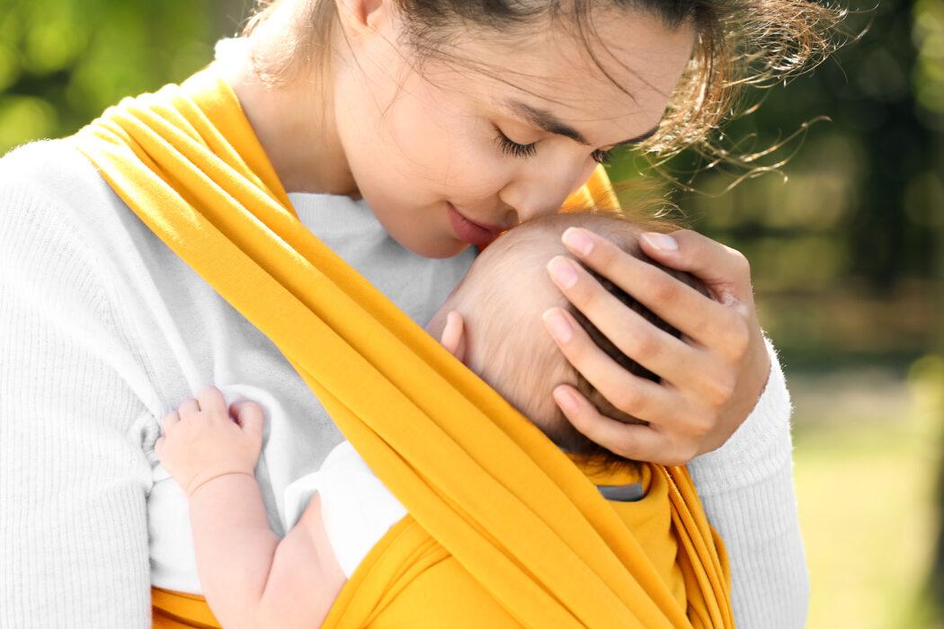 tragetuch baby tragen test