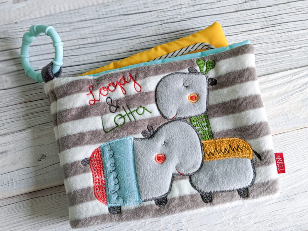 Soft Bilderbuch baby Fotoalbum Baby Fehn Loopy & Lotta