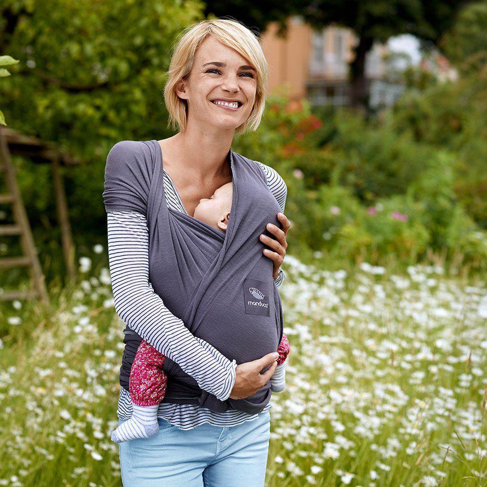 manduca Babytragetuch Sling elastisch Tragetuch Bio Baumwolle