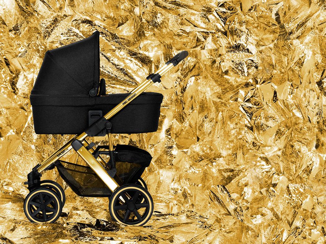 ABC Design Salsa 4 Air Champagne Gold Kombi Kinderwagen Chromgestellt