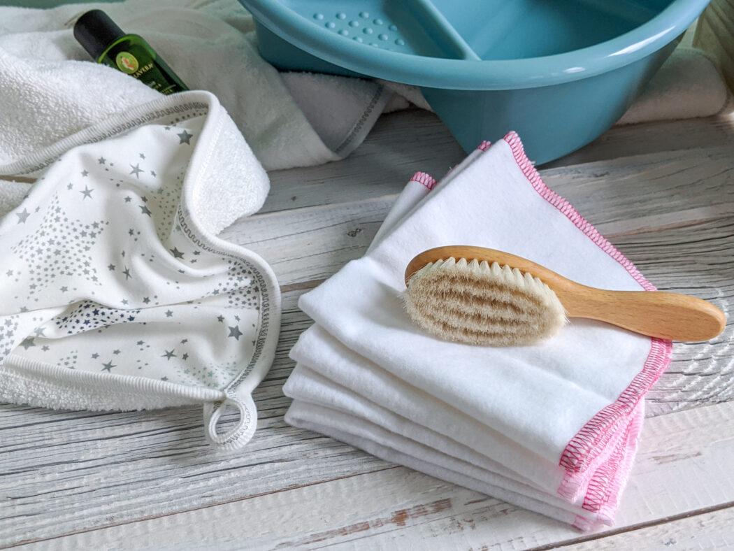 Mull Waschlappen Flanell Makian Rosa Weiß umweltfreundliche Alternative zu Feuchttüchern