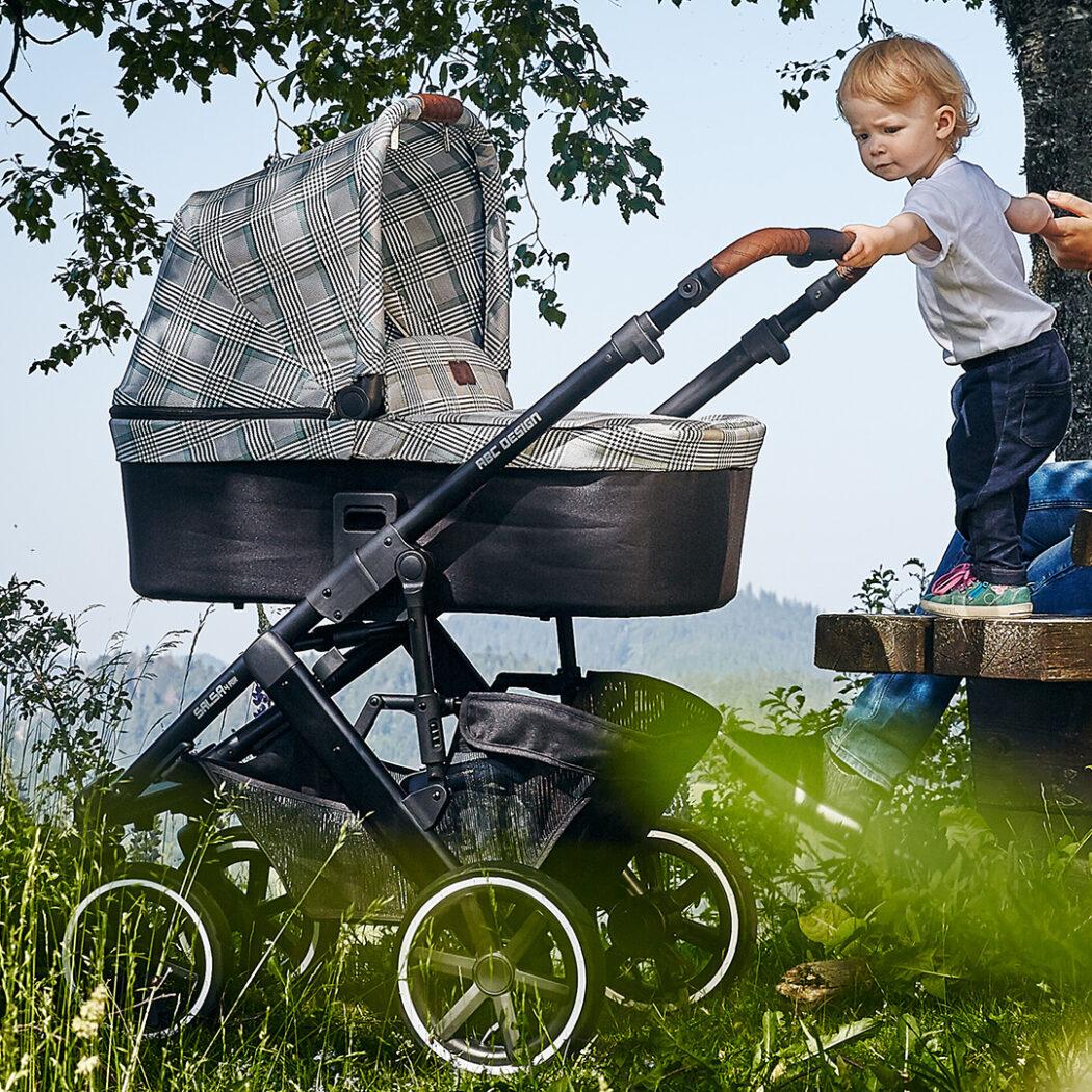 Kinderwagen ABC Design Fashion Edition Smaragd Karomuster Kombikinderwagen