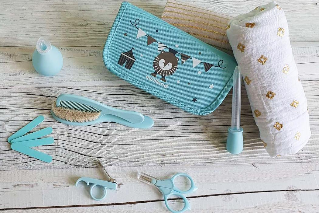 Miniland Pflege Set Babypflege Schere Nasensauger