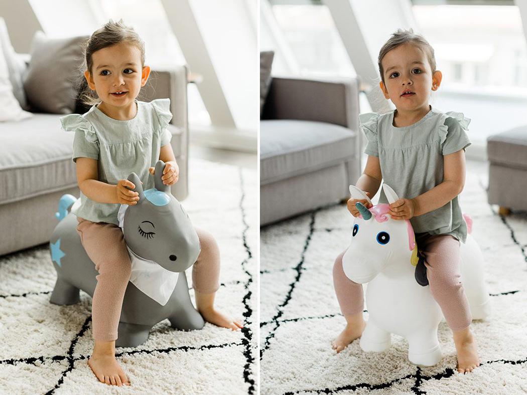 Hüpftier Kindsgut Pferd Einhorn