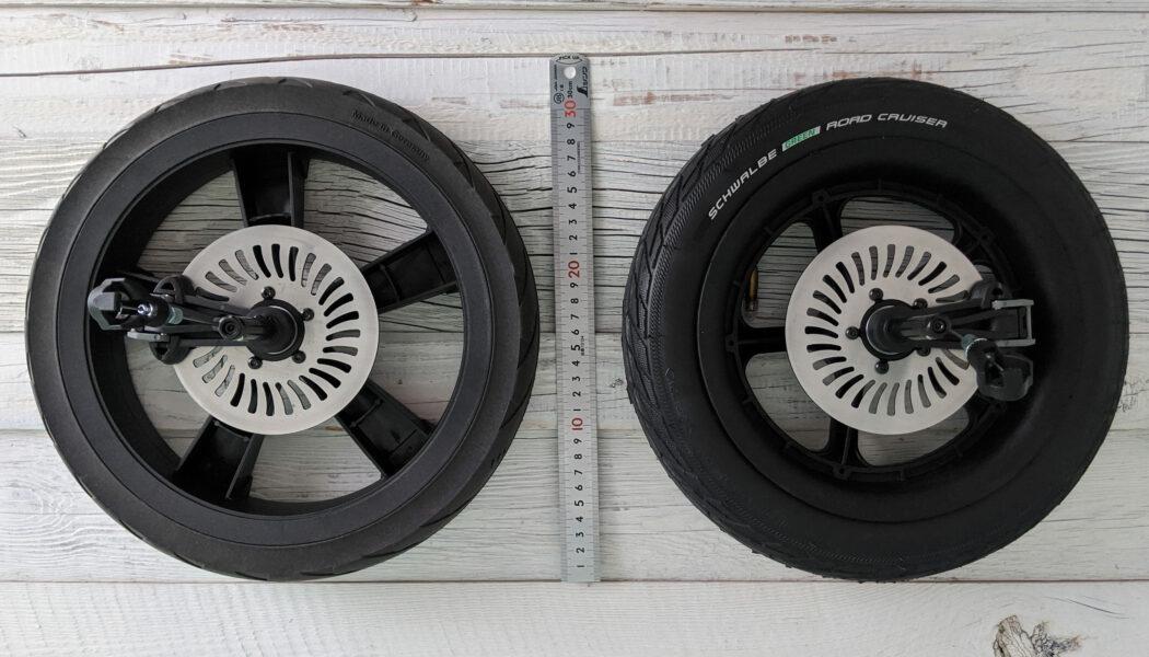 Vergleich Abmessungen TFK Luftrad und Luftkammerrad