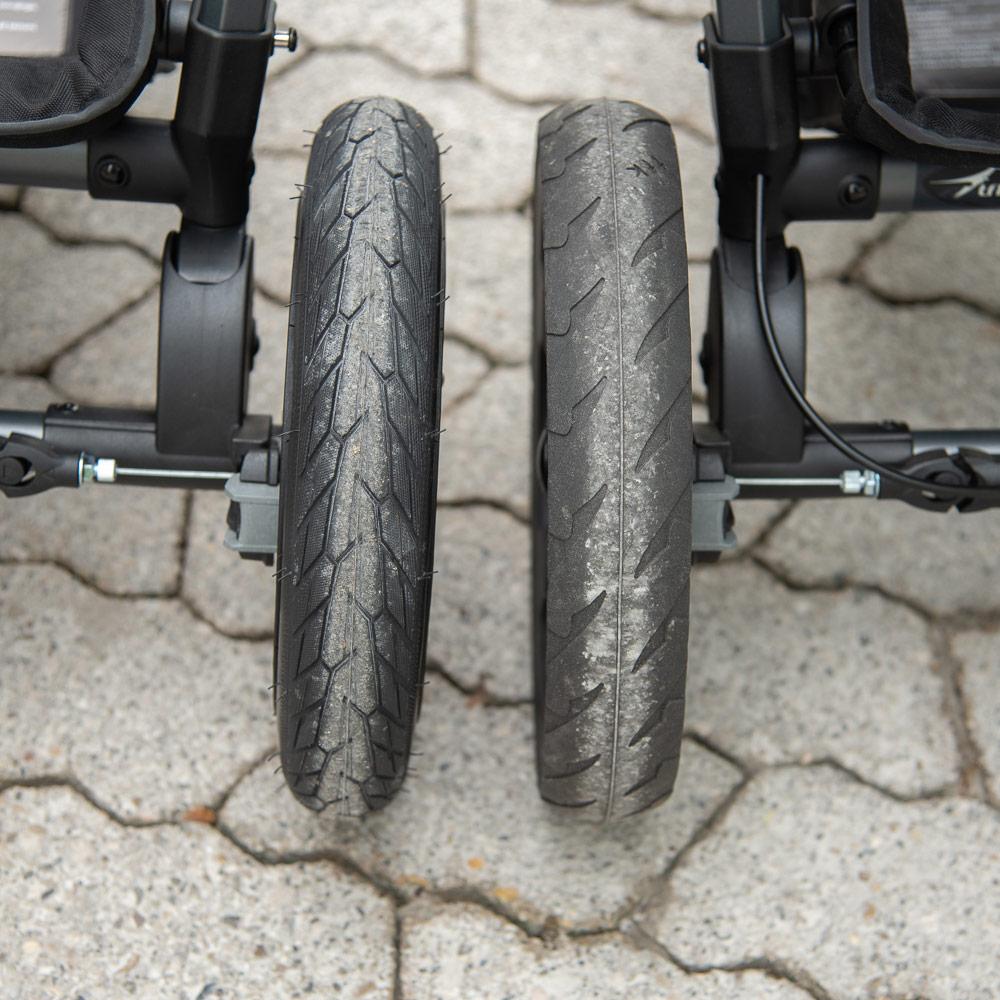 Vergleich Hinterräder TFK Mono Kinderwagen