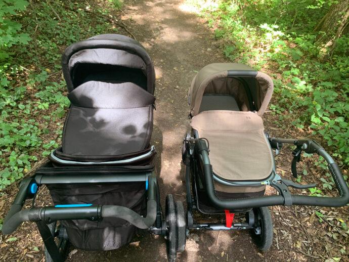 Babywannen mit Schutzdecke im Vergleich Thule vs. tfk