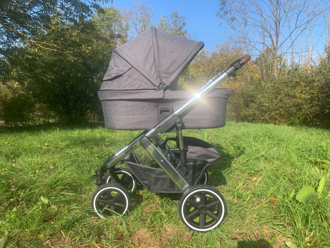 großes Sonnenverdeck Babywanne ABC Design Salsa 4 Air Kombi-Kinderwagen