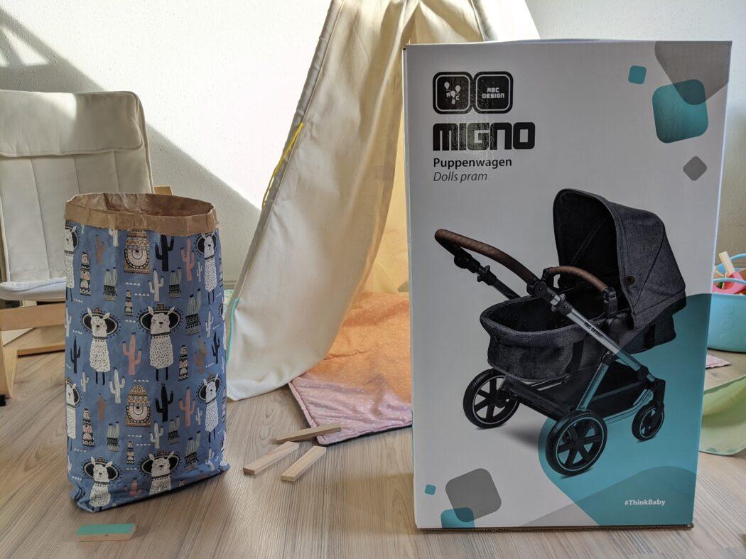 ABC-Design-Puppenwagen-Migno-Karton-Aufbau Test