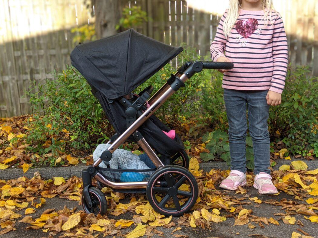 ABC Design Puppenwagen Migno Knickschieber Testbericht Puppenbuggy