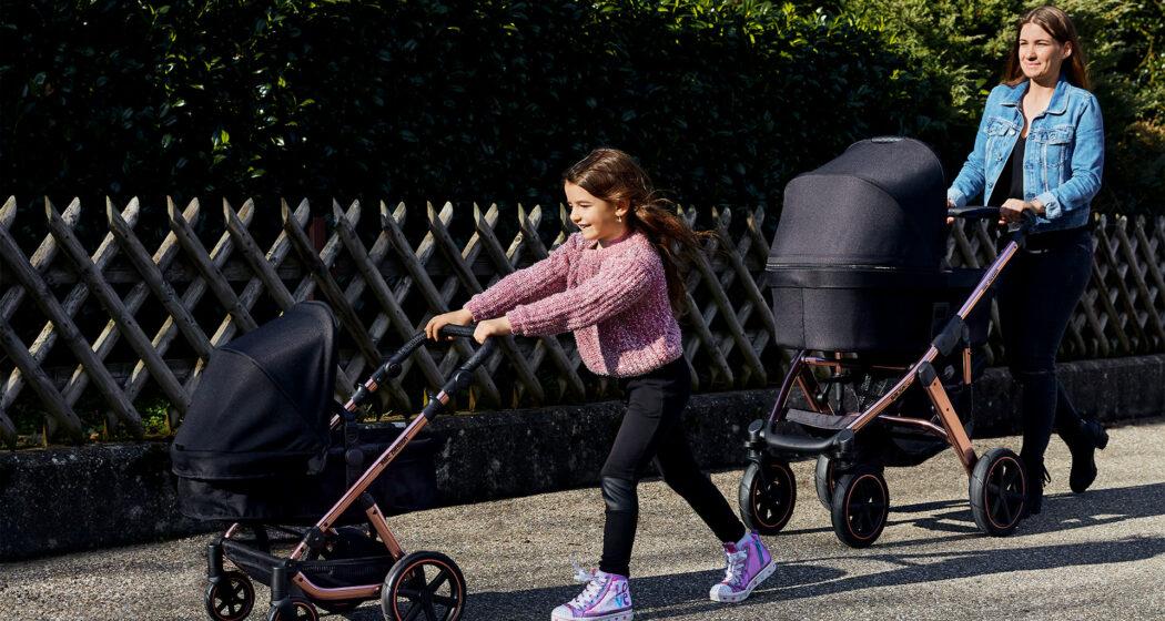 Puppenwagen Migno von ABC Design und Kombikinderwagen Salsa 4 von ABC Design