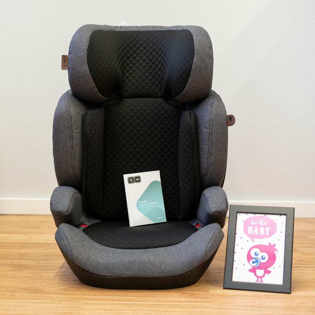 Kindersitz Malow von ABC Design frontal mit Anleitung