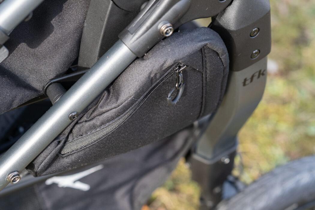 praktische Taschen am Zwillingswagen