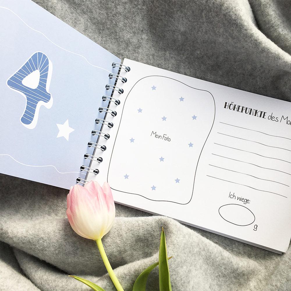 babyparty geschenke erinnerungsbuch babys erstes jahr