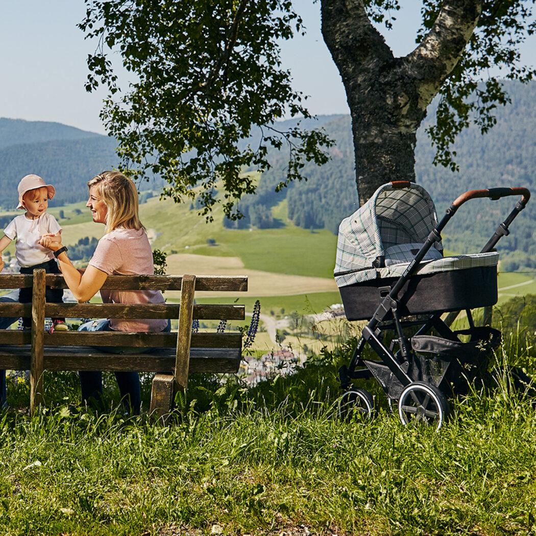 Kinderwagen Salsa 4 Air ABC Design Smaragd Ausflugsbegleiter