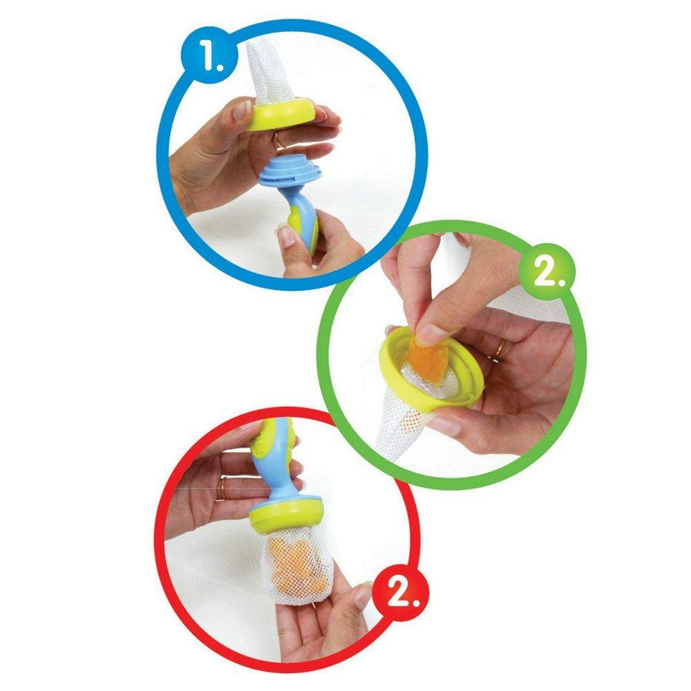 Fruchtsauger Nuby mit Schutzkappe befüllen, Fruchtsauger Nuby mit Schutzkappe verwenden