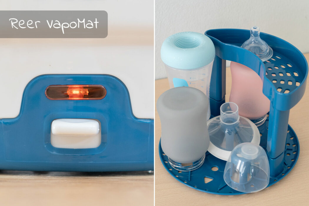 Reer VapoMat im Dampfsterilisator Test, Sterilisator Test baby