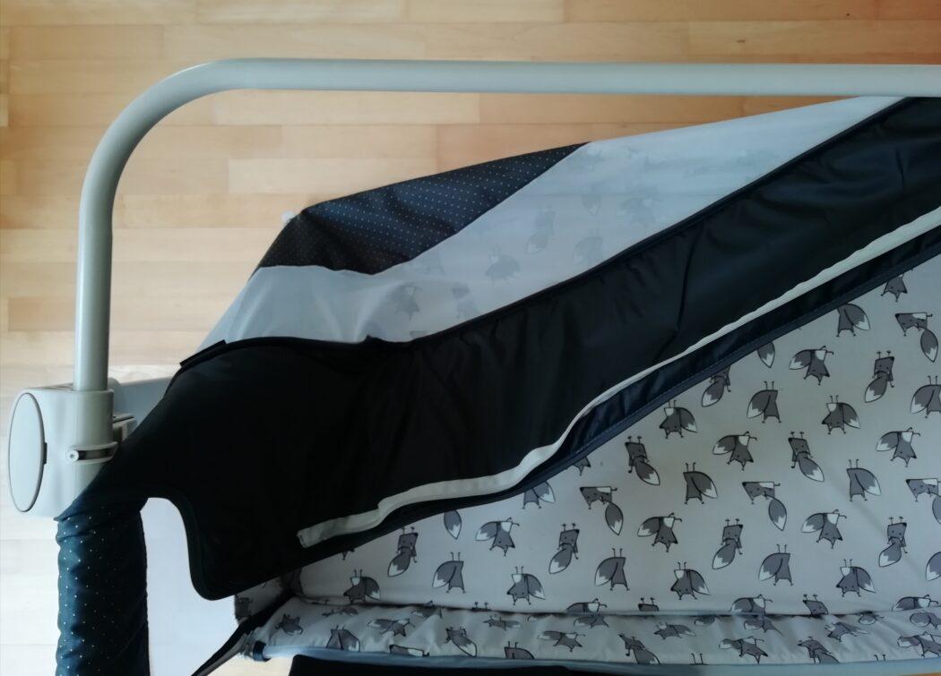 Textilbespannung ABC Beistellbett Sari Fox