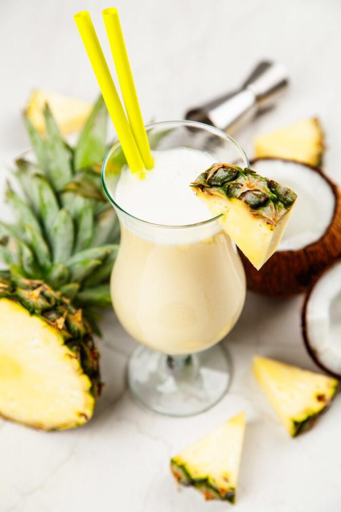 alkoholfreie cocktails rezept pina colada