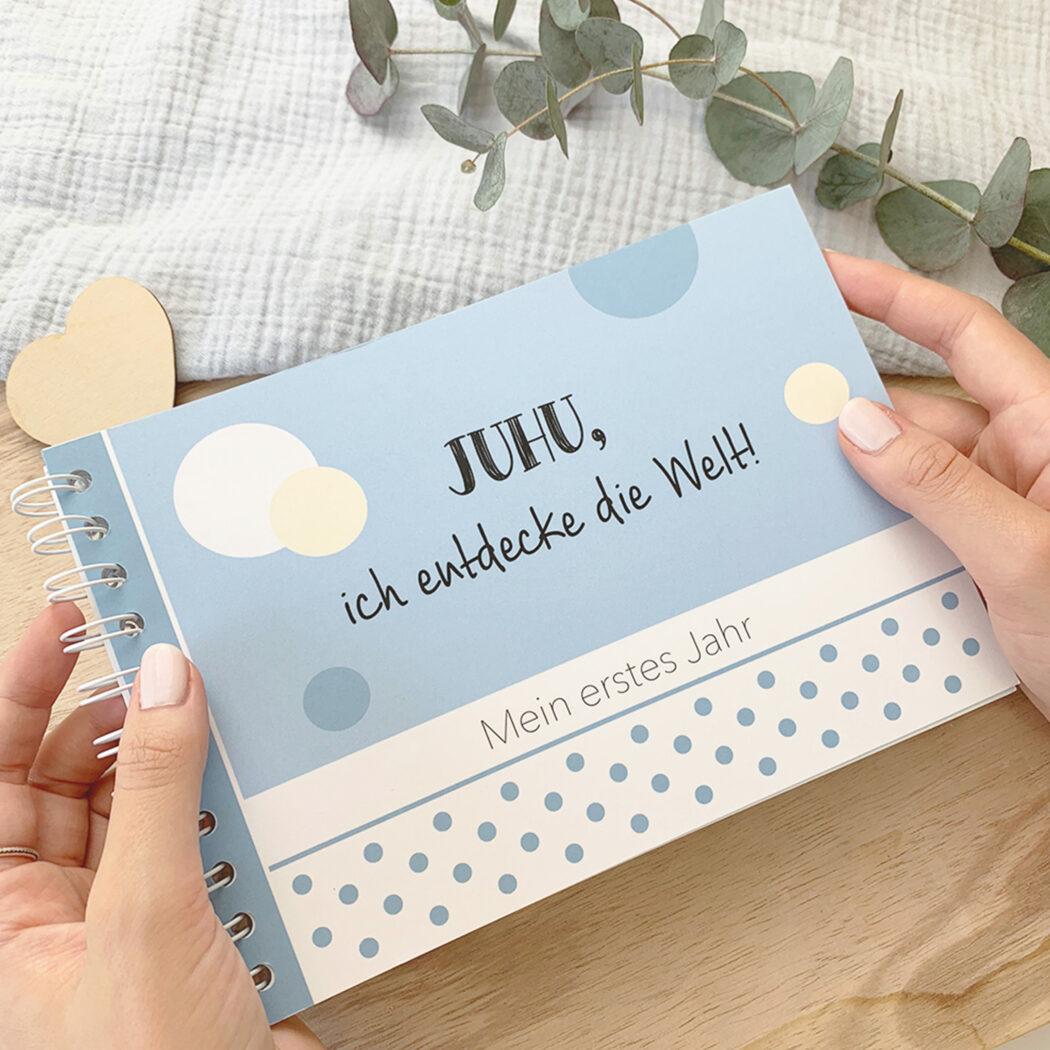 mintkind erinnerungsbuch babytagebuch mein erstes jahr juhu