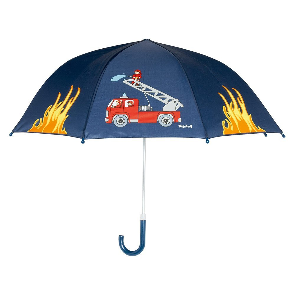 regenschirm mit feuerwehr, regenschirm mit feuerwehrmotiv, kinder regenschirm
